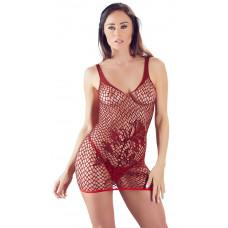 Rød Minikjole med Mønster