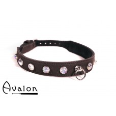 Avalon - DEVOTION - Collar med Blanke Stener og O-ring