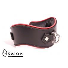 Avalon - GUARDED - Collar med god polstring, Sort og rød