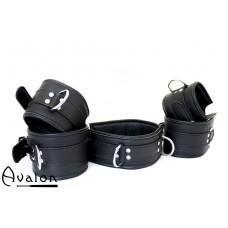 Avalon - EXILE - Cuffs og collar sett sort