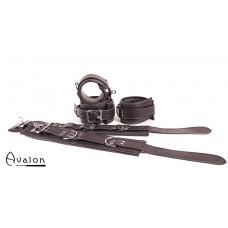 Avalon - LEGEND - Cuffs og Collar sett Sort