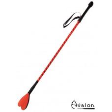 Avalon - COURAGE - Ridepisk med Hjerteflipp - Rød