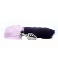 BQS - Buttplug med lilla og rosa hale