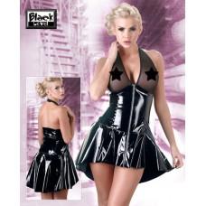 Lakk kjole med gjennomsiktig overdel