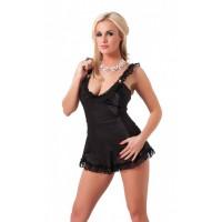 Amorable - Minikjole med snøring bak svart