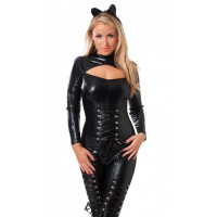 Amorable - Catsuit i lakk - Catwoman