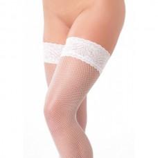 Amorable - Stay-up netting strømper med blondekant Hvit