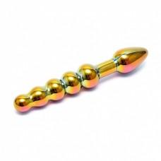 Sensual Glass Laila  - Regnbuefarge Metallic - Glassdildo
