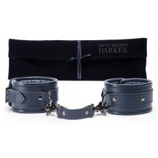 Fifty Shades Darker - Fot cuffs i blått lær