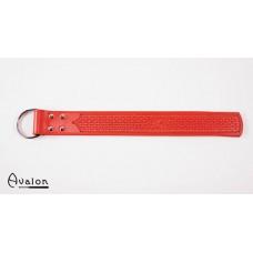 Avalon - Lang paddle med D-ring og dekor, rød