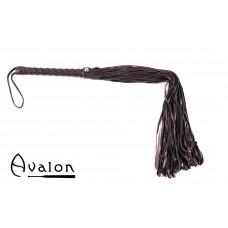Avalon - LUCIUS - Sort flogger i mykt lær