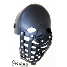 Avalon - WARDEN - Maske i lær med gitter
