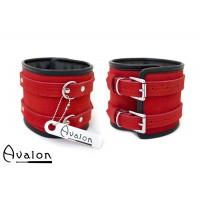 Avalon – Ekstra brede fotcuffs Rød og sort