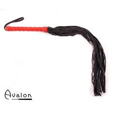 Avalon - LUCIUS - Sort & rød flogger i mykt lær