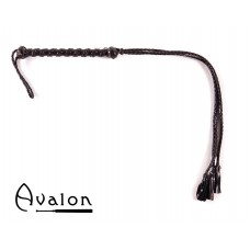 Avalon - HENGEST - Sort flogger med lærdusk
