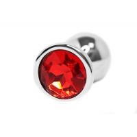 BQS - Buttplug med Krystall - Rød