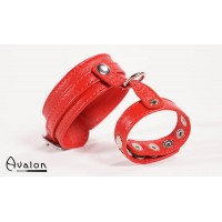 Avalon - cock & ball harness med spenner - Rød