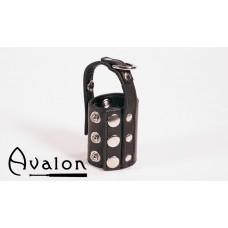 Avalon - Ballestrekker i lær med D-ring Sort