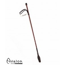 Avalon - PRIME - Klassisk enkel ridepisk - Sort og rød