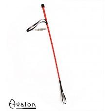 Avalon - PRIME - Klassisk enkel ridepisk - Rød og sort