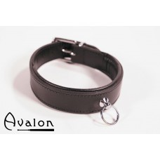 Avalon - Klassisk collar med O-ring sort