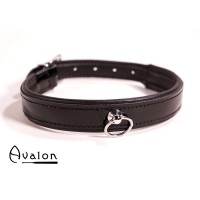Avalon - Collar med blank overflate og O-ring - Sort
