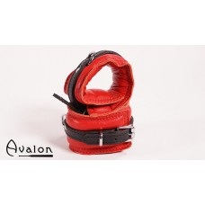 Avalon - Polstrete Håndcuffs Rød og sort