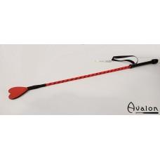 Avalon - Ridepisk med hjerte flipp - Rød