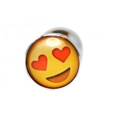 BQS - Buttplug med emoji - Hjerteøyne Smiley