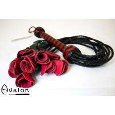 Avalon -  Roseflogger med sort og rødt håndtak