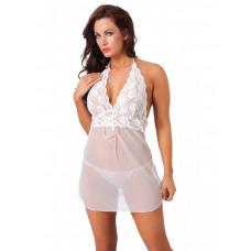 Amorable - Hvit minikjole med blonder