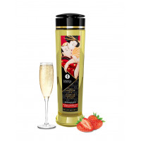 Shunga - Romance Sparkling Strawberry - Massasjeolje - 240ml