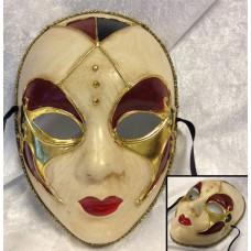 Venezia Maske - Rød & Gull